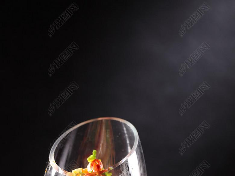 中华美食精致凉菜炝拌鲍鱼裙边