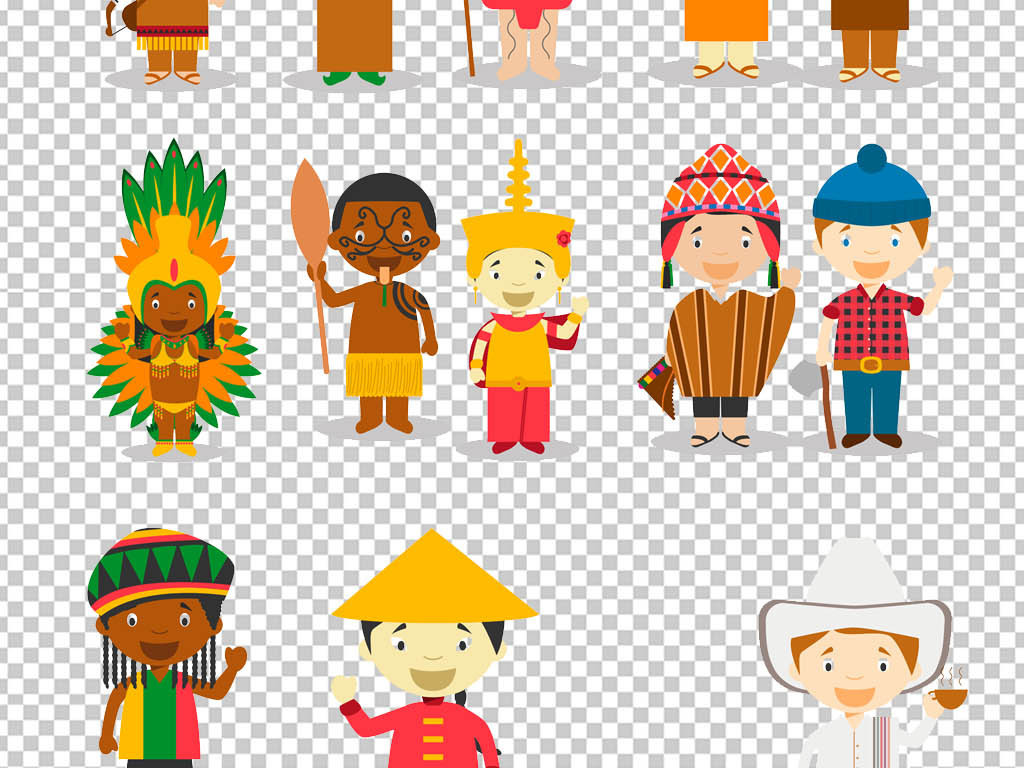 手绘创意传统少数民族文化png