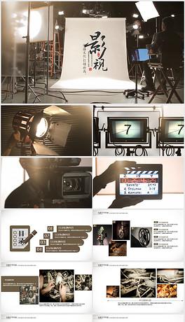开场视频片头创意电影影视ppt动画模板