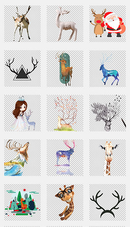 PNG素描小鹿 PNG格式素描小鹿素材图片 PNG素描小鹿设计模板 我图网