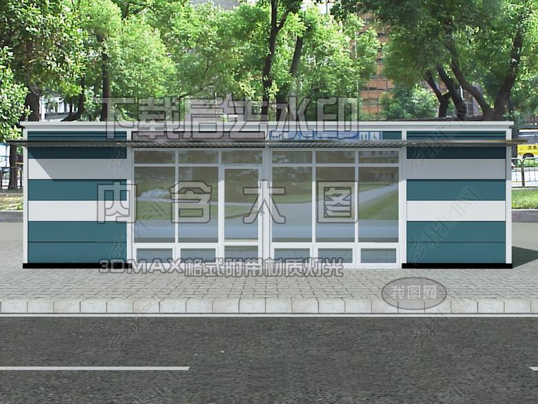 街边公共卫生间亭子效果图3D模型