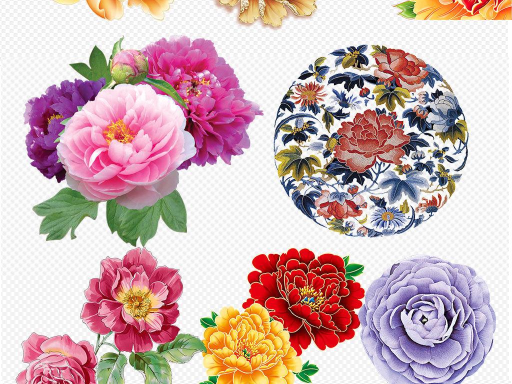 精美手绘花朵花卉花环树叶夏季海报素.