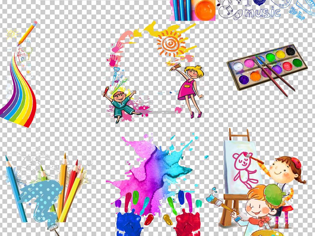 少儿美术培训班招生海报卡通儿童绘画.图片设