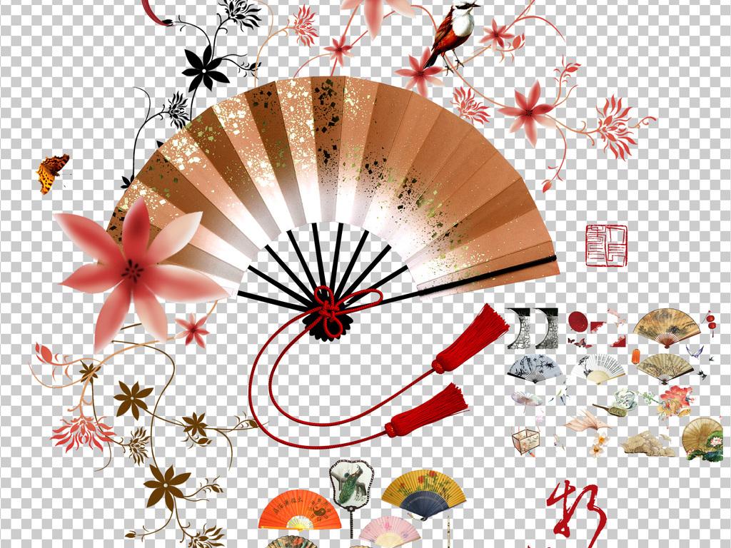 中国风扇子折扇图片素材