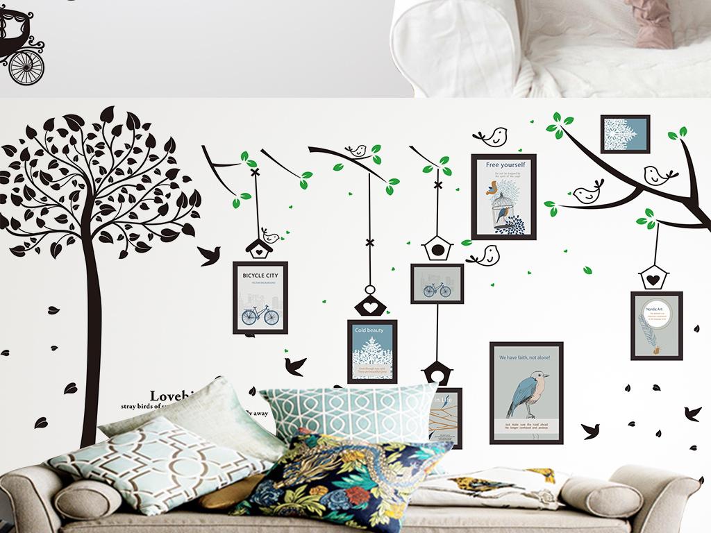 漂亮墙贴画图片大全