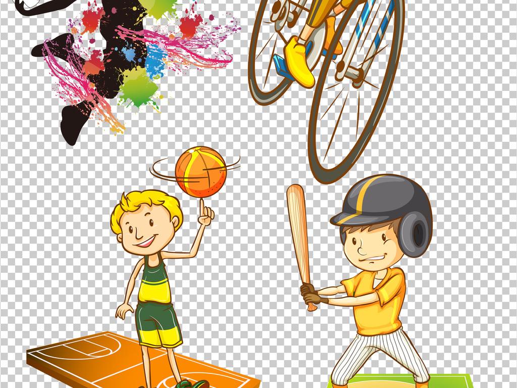 卡通运动员篮球运动员png素材
