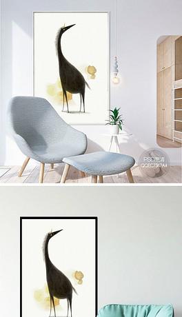 北欧小清新手绘彩铅动物装饰画-PSD彩铅画 PSD格式彩铅画素材图片
