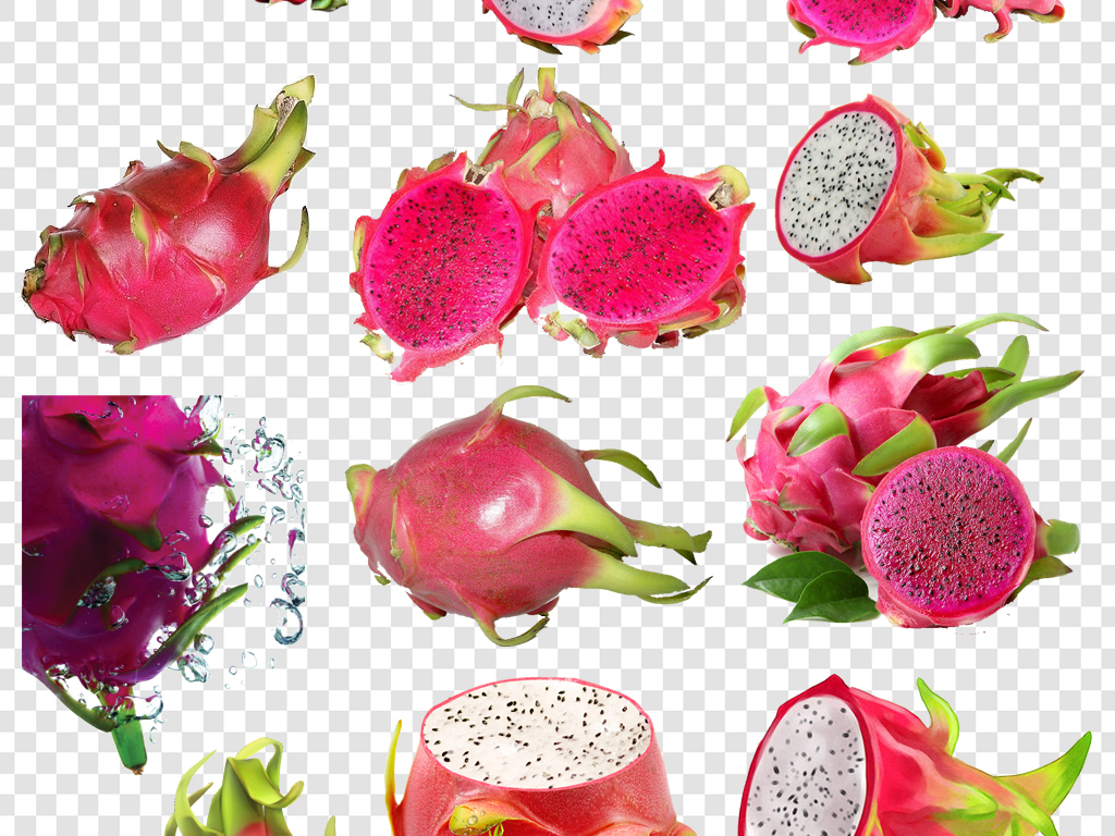 火龙果水果png海报素材图片