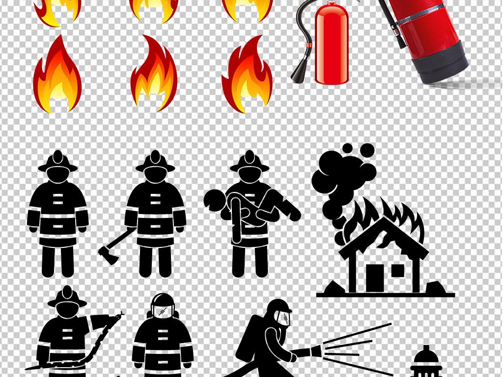 消防人物灭火设计图片海报素材