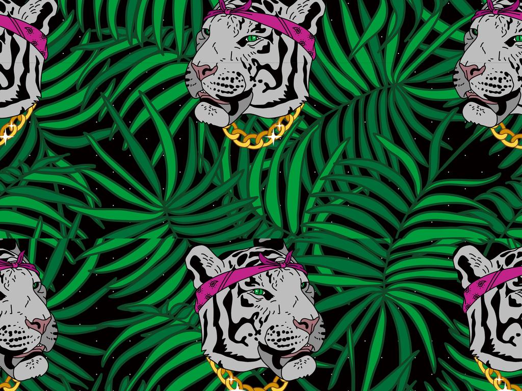 原创设计热带丛林动物背景图案素材是用户qq23f2c059