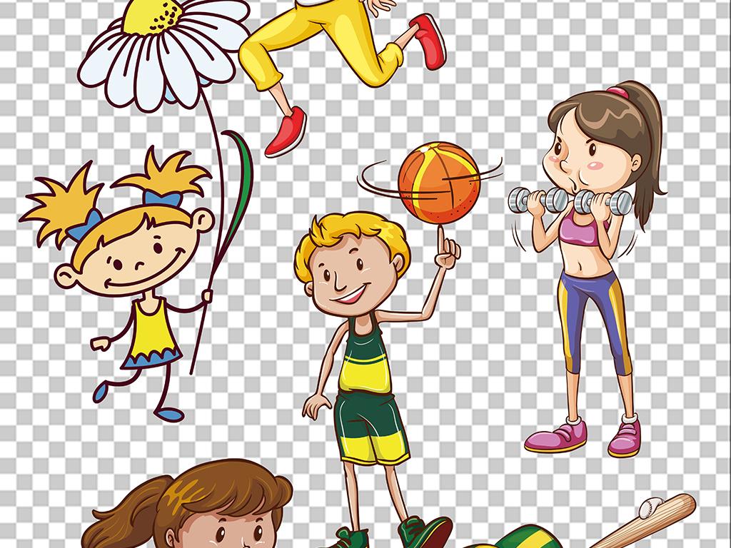 卡通运动员运动男孩女孩PNG素材图片 模板下载 155.62MB 儿童大全