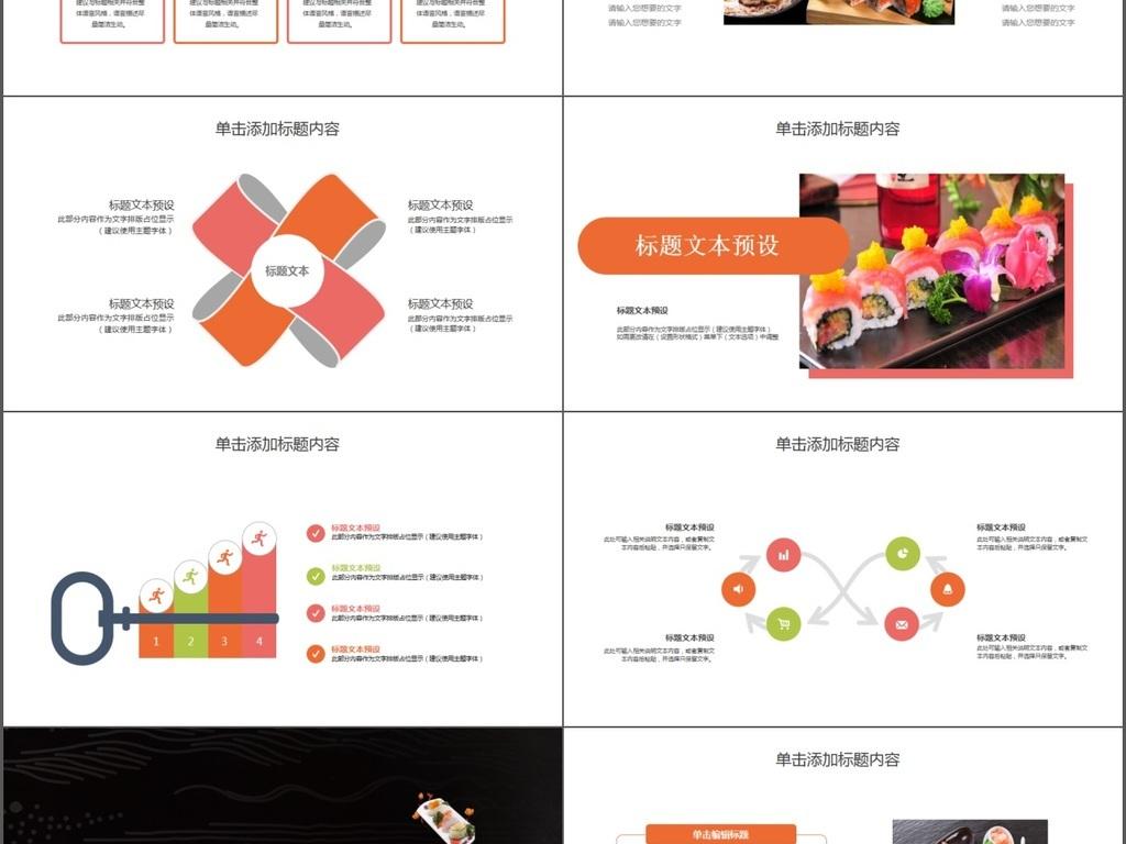 日式美食餐饮酒店日本料理餐厅PPT美食最强-北京西站模板附近5图片