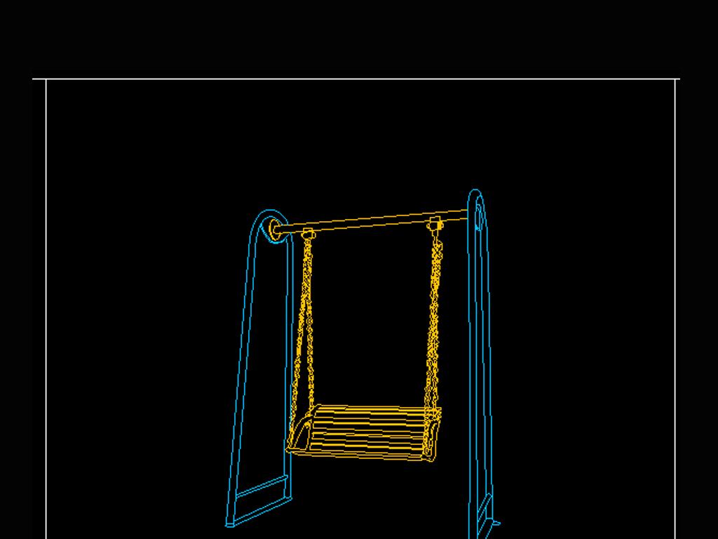 户外运动健身器材cad图块立面图2cad清理文字重叠图片
