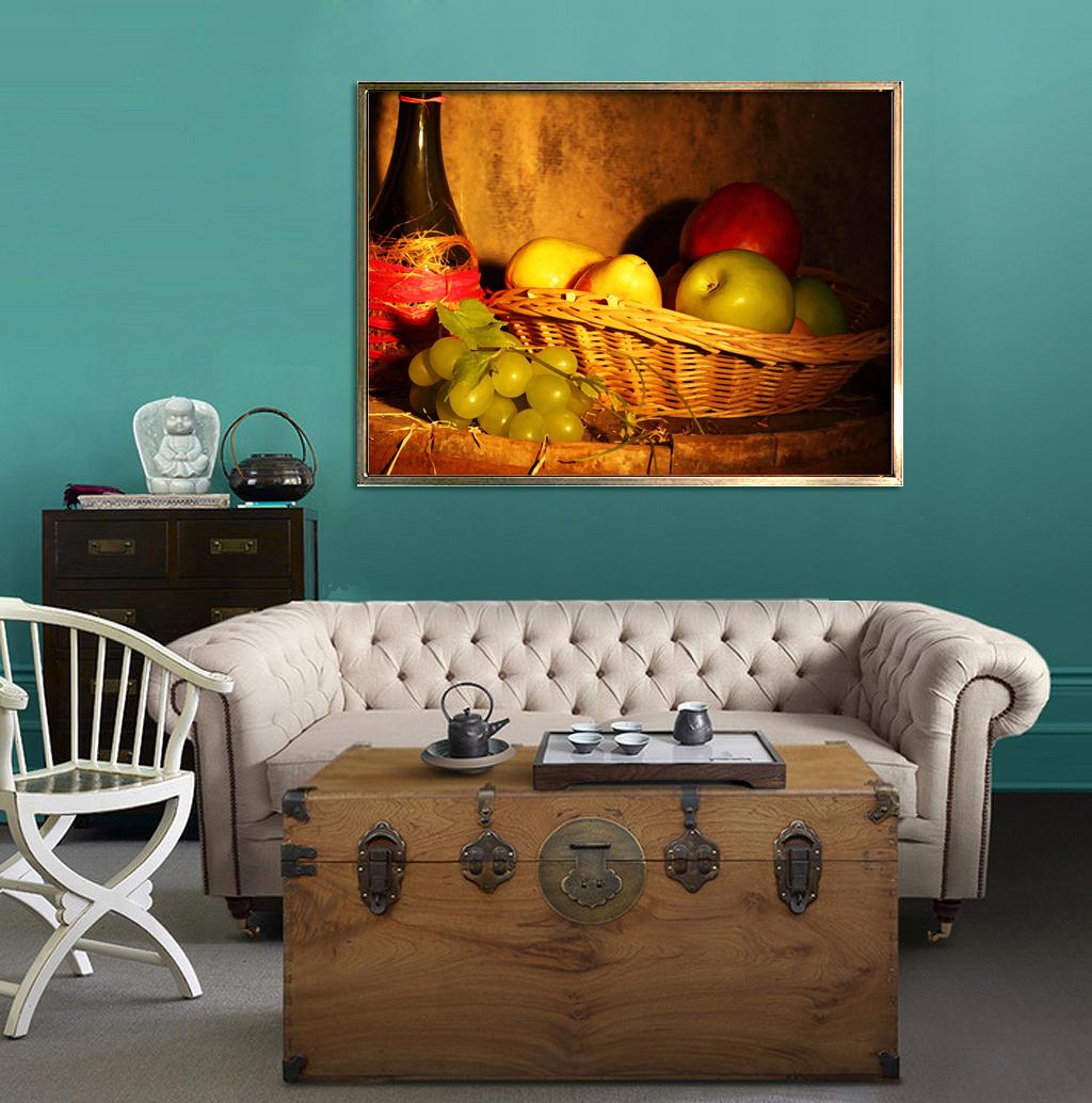 餐厅 墙画 无框画 装饰画 现代时尚 室内 红酒油画 大师油画静物 油画