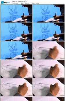 黑板粉笔手绘简笔画动物教学广告宣传视频