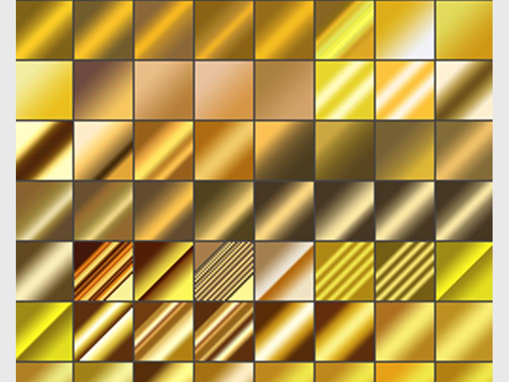 110款金色PS渐变特效样式模板金属光泽图片素材 psd下载 0.35MB 办公商务大全 生活工作
