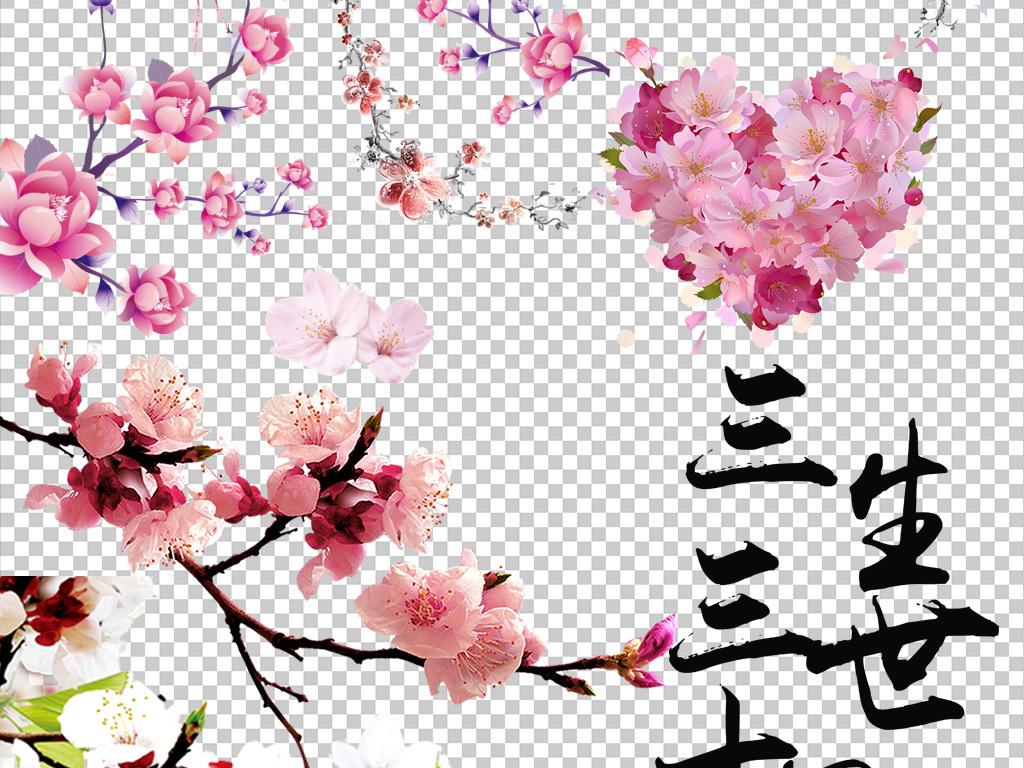 浪漫粉红色桃花梅花樱花花朵图片pn.