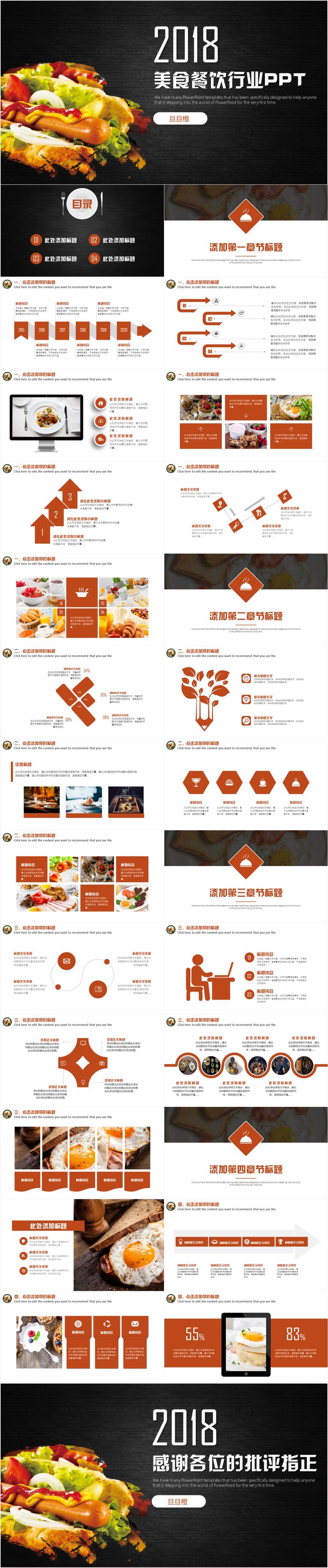 餐饮美食酒店策划餐厅营销方案计划书品牌宣传ppt模板图片