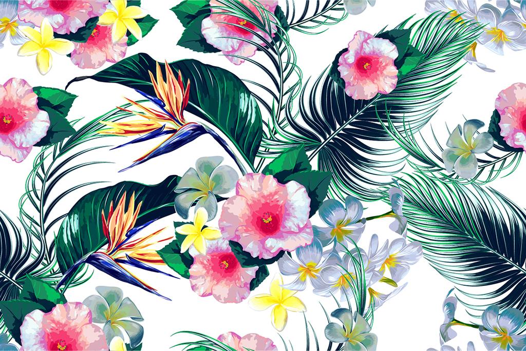 手绘油画效果植物花卉图片设计素材_高清其他模板下载