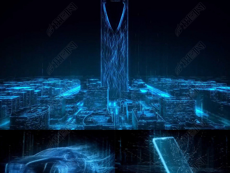 高铁科技模板互联网粒子线条未来