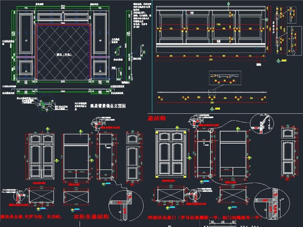 改写家具模块CAD图cad怎么值定制标注图片