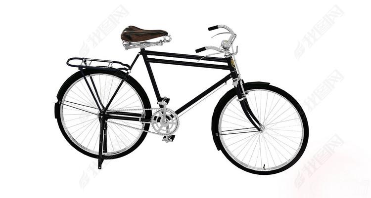 文革时期老式大金鹿老凤凰自行车3D模型图片