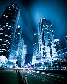 城市夜景风景都市背景夜晚城市城市图片唯美城市建筑-街道夜景图片图片