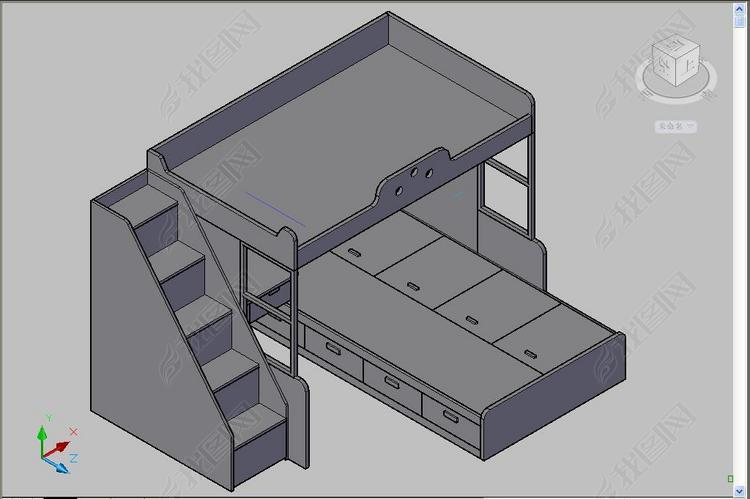 图形床CAD三维图cad2008修复高低怎么图片