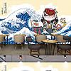 手绘日式装饰画