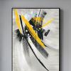 新中式现代抽象黄色大气客厅玄关装饰画