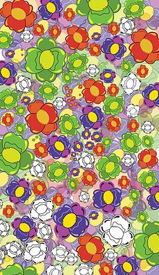 手绘水彩植物花纹图案-蝴蝶花纹图案模板 蝴蝶花纹图案格模板下载 我