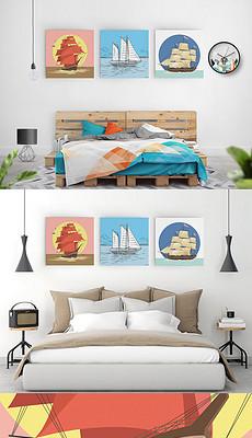 卡通小帆船图片素材 卡通小帆船图片素材下载 卡通小帆船背景素材 卡图片