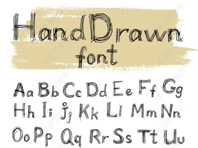 手写字体艺术字设计图片素材 高清ai模板下载 1.43MB 英文艺术字大全