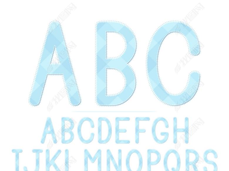 浅蓝色a字体字体素材v字体图片下载ai艺术-英文室内设计如何坚持图片