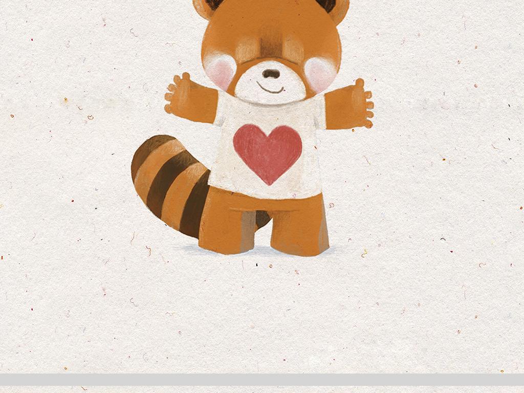 3款森系手绘可爱小动物装饰画图片设计素材_高清其他