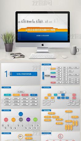 公司企业组织架构图ppt图片