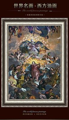 西方名画维罗纳人的圣母升天人物场景油画-希腊人图片素材 希腊人图