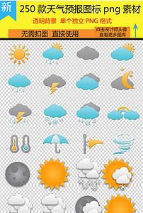 卡通各种天气预报雷电雨天晴天阴天符号素材图片 模板下载 10.29MB