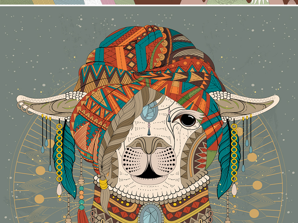 森系手绘动物装饰画北欧无框画鱼