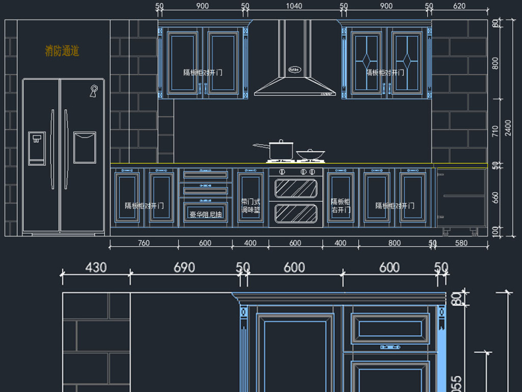 橱柜cad设计素材下载_橱柜cad模板下载_红动手机版