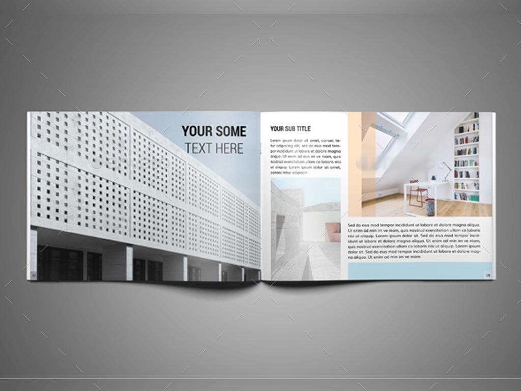 室内设计宣传画册indesign模板图片