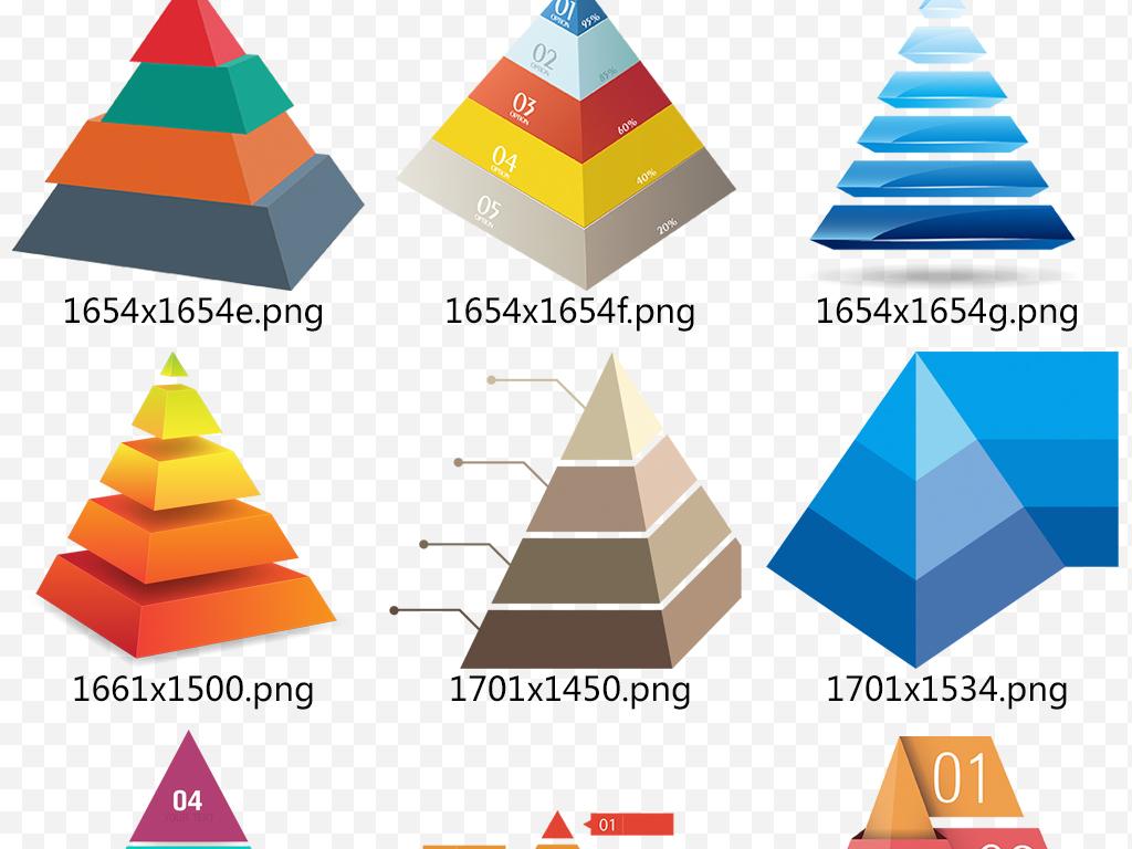 ppt金字塔三角形数据金融食物塔素材模板下载 7.06MB 居家物品大全
