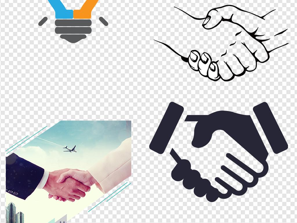 合作共赢握手商务合作招聘加盟素材