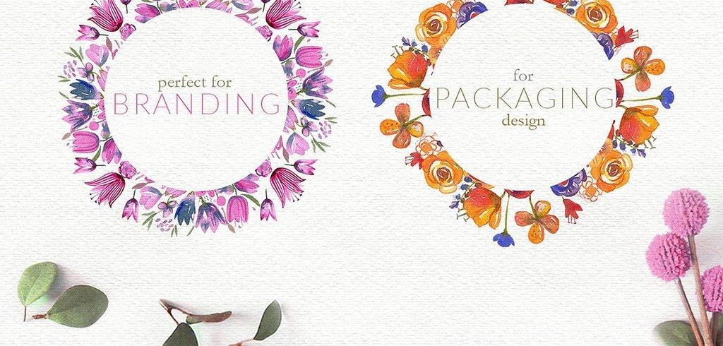 卉植物图案高清免抠PNG婚庆海报邀请函设计素材图片 模板下载 627