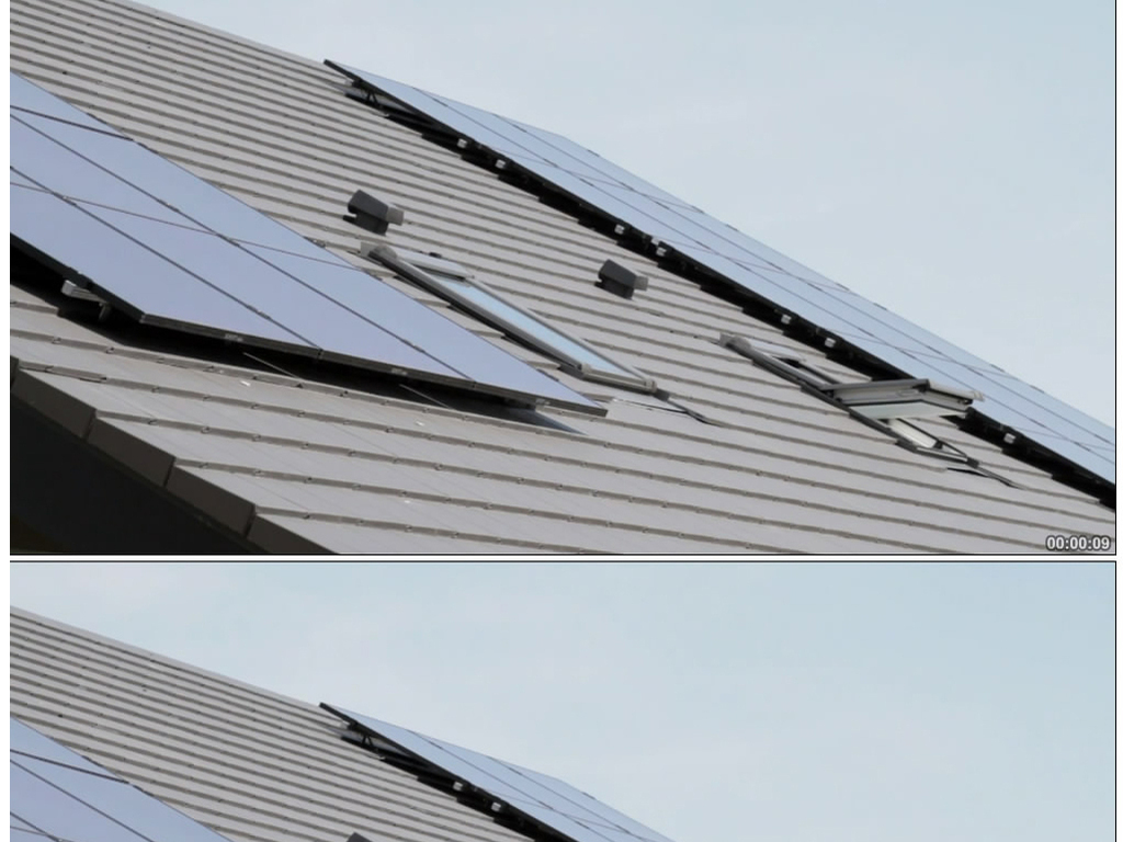 实拍房屋上的太阳能电池板视频素材图片设计 高清模板下载 15.10MB 其他大全