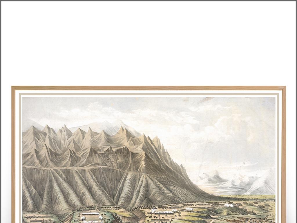 手绘欧式美式中世纪西洋画背景墙装饰画油画图片设计素材 高清模板下载 47.96MB 森林风景装饰画大全