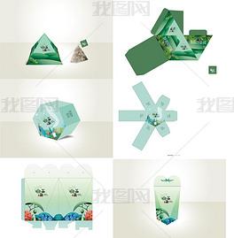 创意插画卡通唯美个性异形造型包装盒设计展开图矢量文件