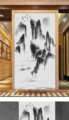 黑白国画山水图片 黑白国画山水设计素材下载 黑白国画山水效果图 我图片