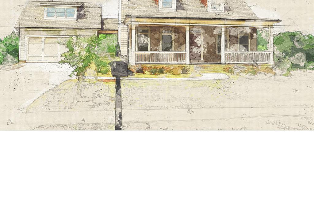 欧式手绘背景简约图纸图纸墙米房子7客厅v背景怎么图片