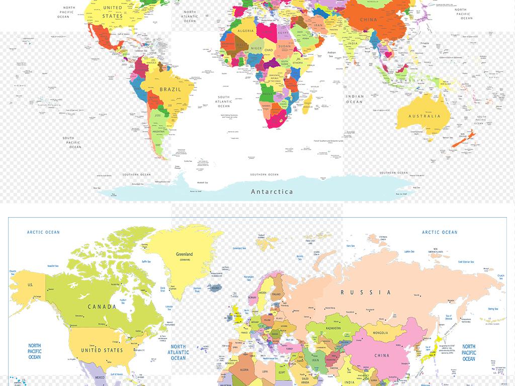 世界地图PPT矢量素材AI透明背景设计模板下载 75.88MB 办公商务大